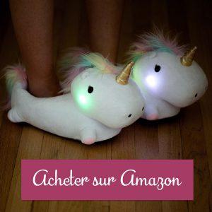 chausson licorne lumineux