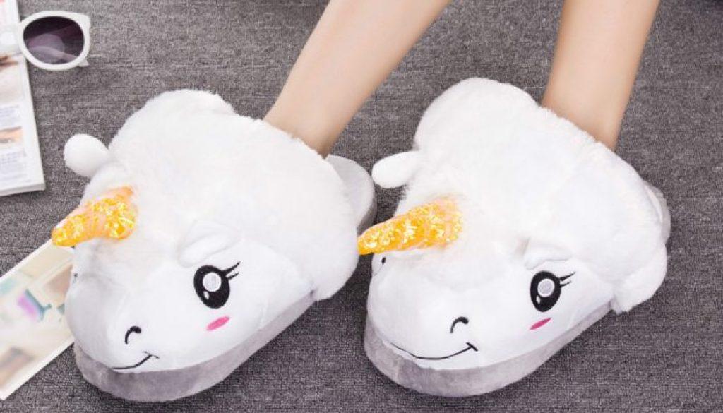 chaussons licorne